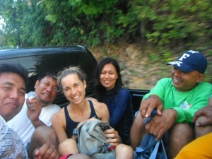 And in typical Filipino style, our entire team can fit in one vehicle!